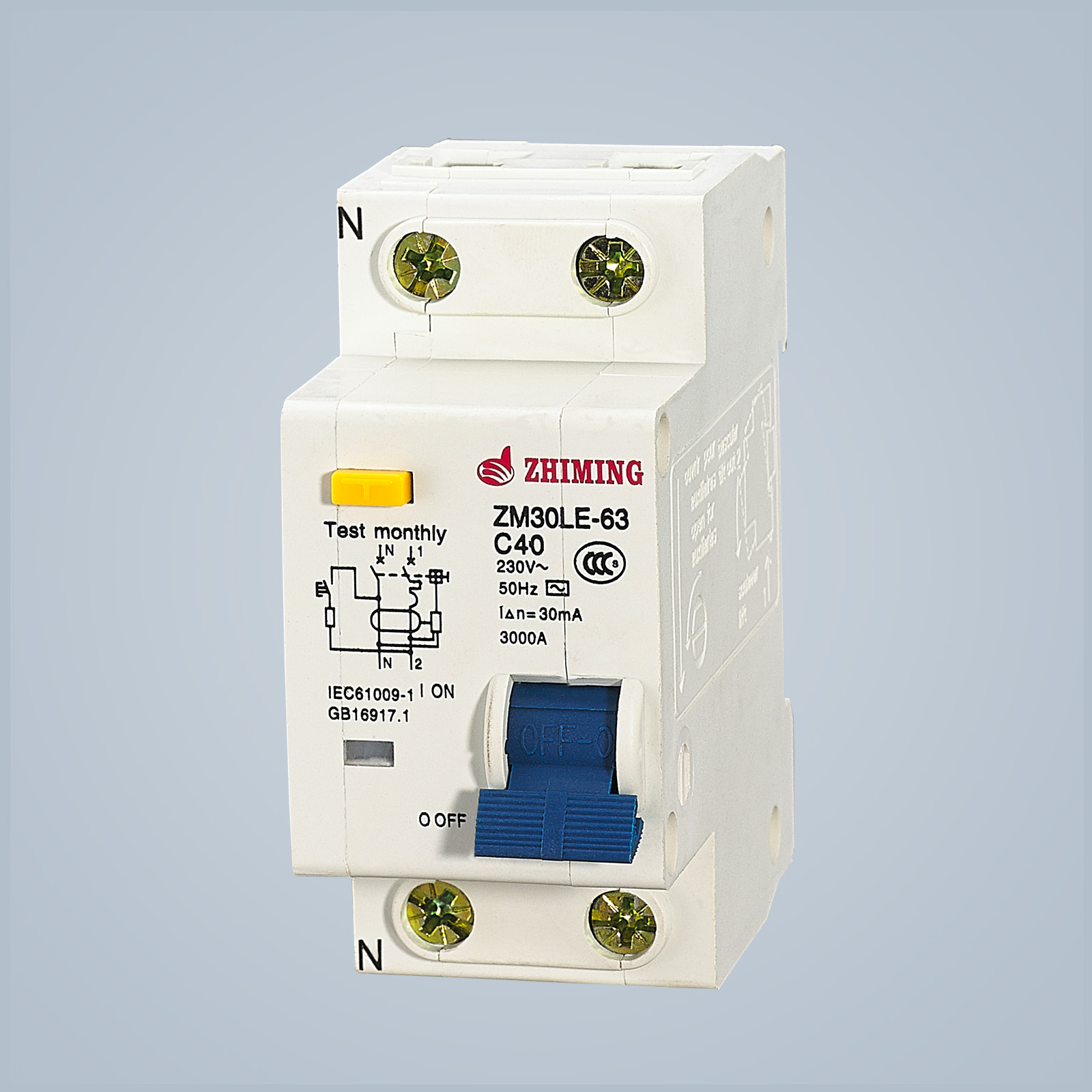 ZM30LE-63 Residual Current Operated Circuit Breaker